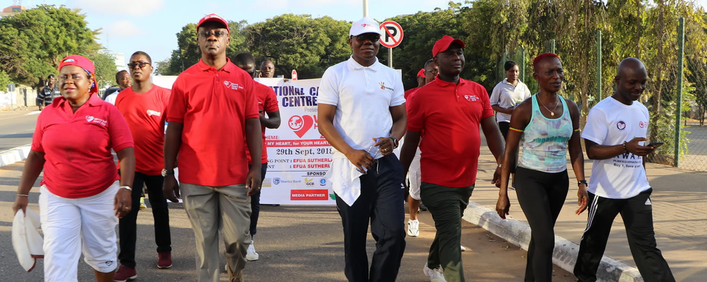 The walk for a healthy heart starts