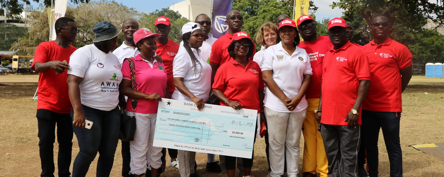 Ghana Revenue Authority donates to support the heart foundation